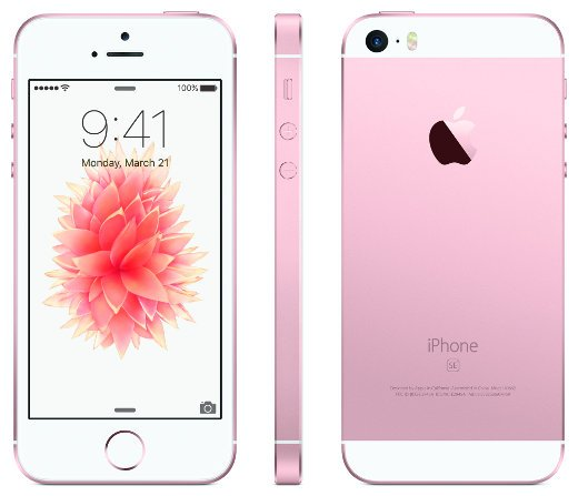Das iPhone SE in der Farbvariante Roségold